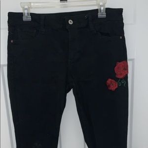 Arizona Black Jeans with Patches